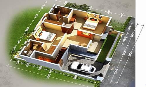 Sketsa Denah Rumah Minimalis