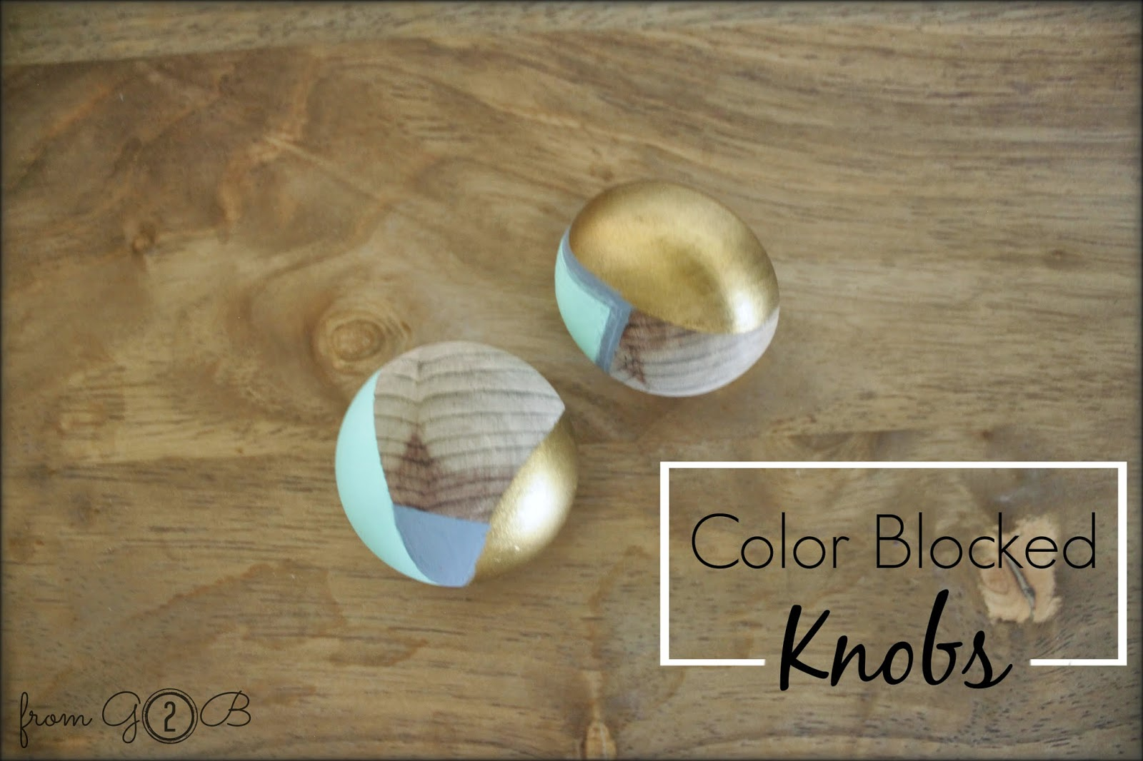 Color Blocked Wooden Knobs via fg2b