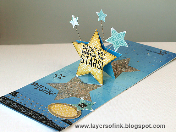 Celebration Star Pop-Up - Layers of ink