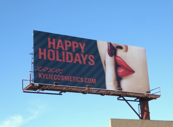 Happy Holidays 2017 Kylie Cosmetics billboard