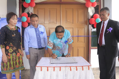 Hadiri HUT Ke 17 GGP Solafide, Wabup Boltim Puji Kerukunan Desa Mooat