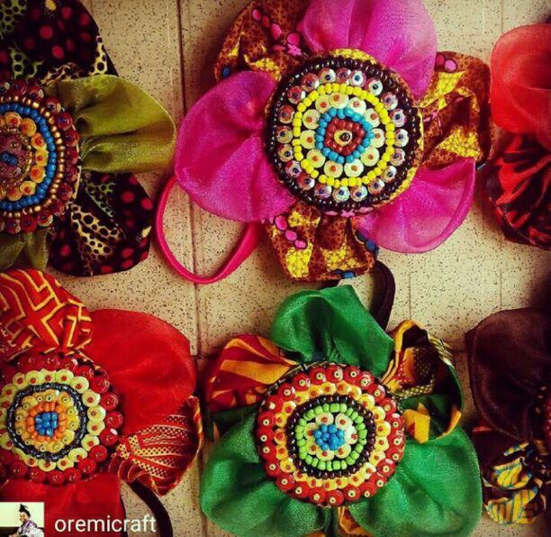 Ankara hair ribbon