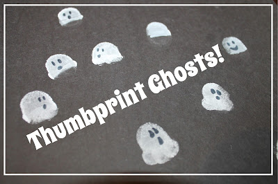 Easy Thumbprint Ghost Craft + Other Halloween Thumbprints!