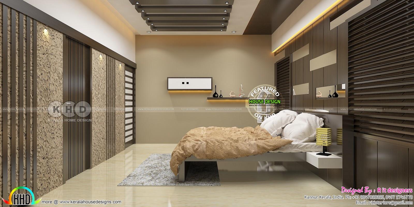 Beautiful Modern Bedroom Interior Designs Kerala Home