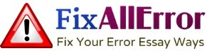 Fix Your Errors