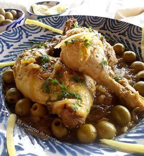 Pollo con limón encurtido & aceitunas