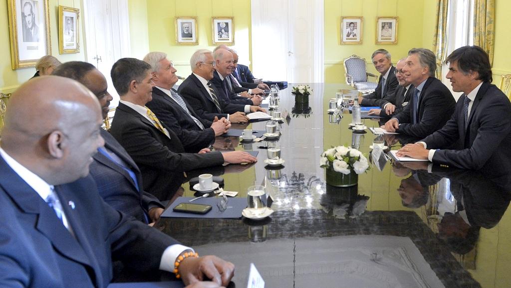 Macri recibió a miembros de la Cámara de Representantes de los Estados Unidos