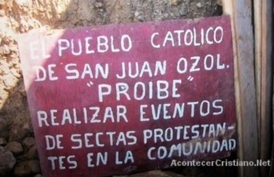 Católicos prohíben a evangélicos entrar a pueblo San Juan Ozolotepec