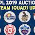 All team squads for IPL 2019 | आईपीएल 2019 में सभी टीमो के क्रिकेटरों की सूची