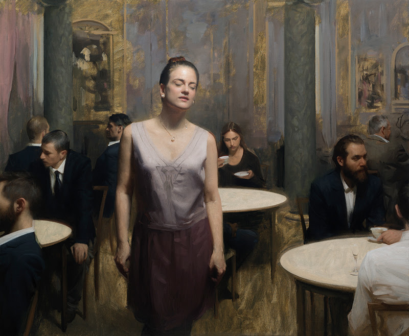 Figurative Paintings by Nick Alm from Sweden.