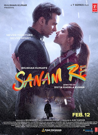 Poster Of Sanam Re 2016 Hindi 350MB pDVD 480p Xvid Watch Online