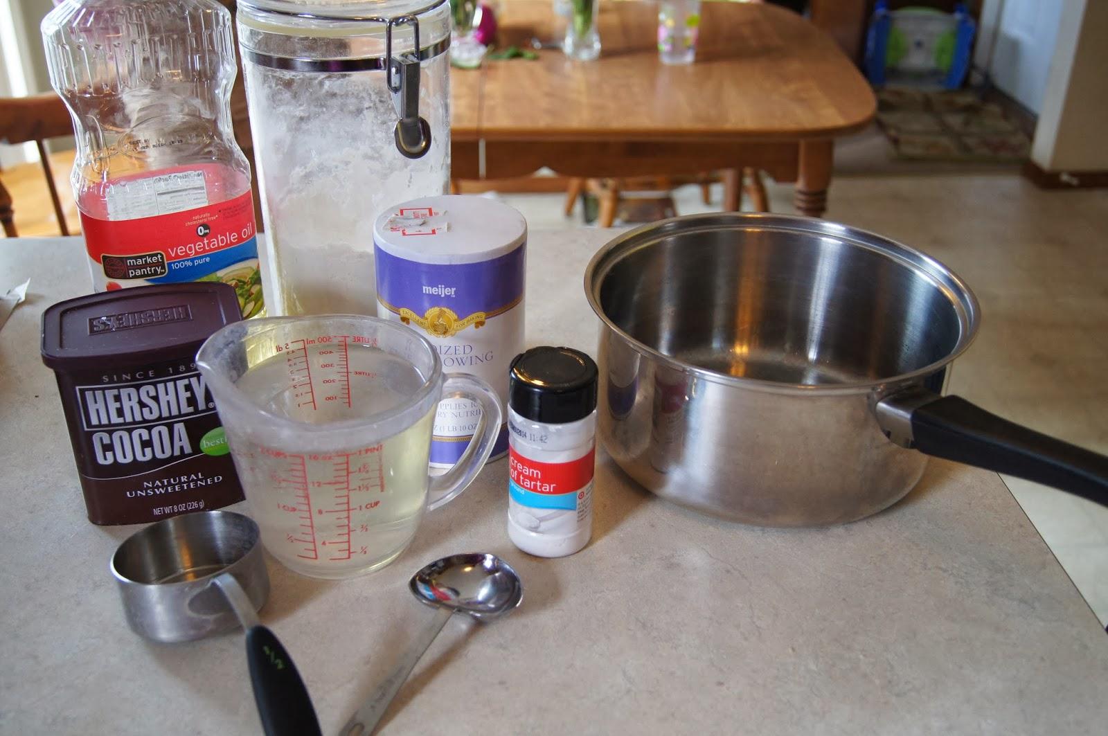 Chocolate Playdoh Recipe