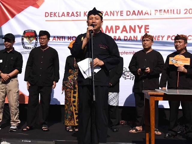 KPU Jawa Barat Gelar Deklarasi Kampanye Damai di CFD Dago