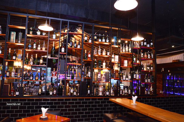 A wide choice of liquor at Eau De Vie is available