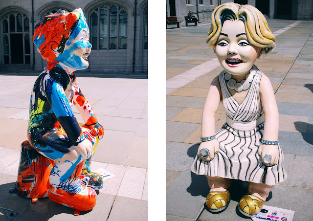 Boozy Cow and Wullamyn - Oor Wullie Bucket Trail Aberdeen