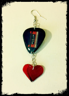 Single Record Heart Earring
