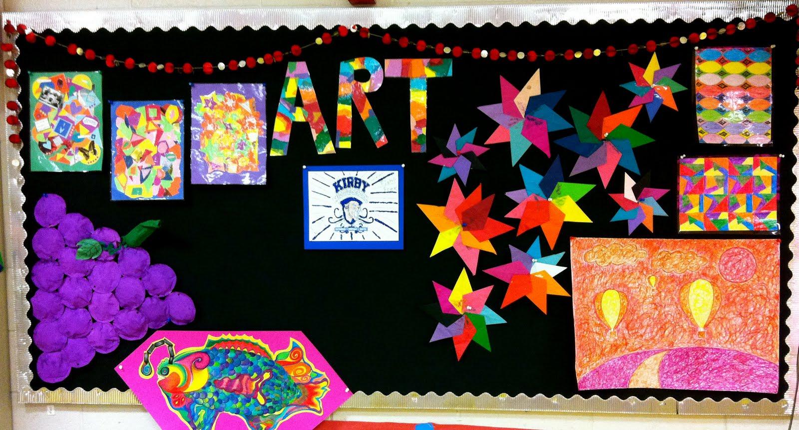 Kirby Middle Visual Art Classroom Displays
