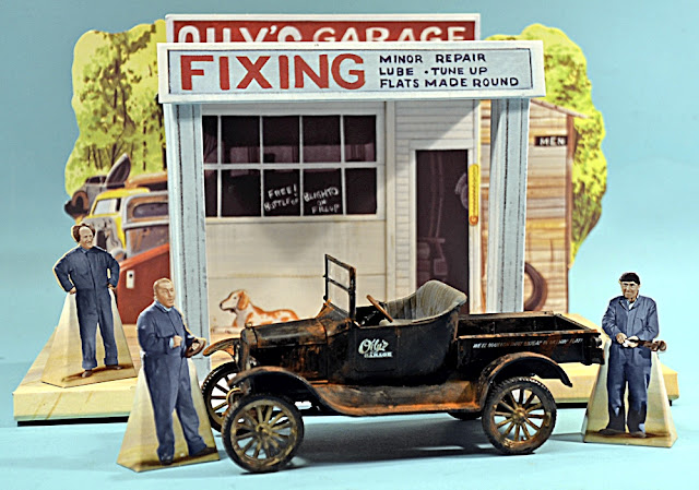 Scale Model News Oily S Garage And Ford Model T Diorama