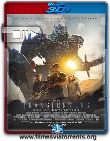 Transformers: A Era da Extinção Torrent - BluRay Rip 1080p 3D HSBS Dual Áudio 5.1 (2014)