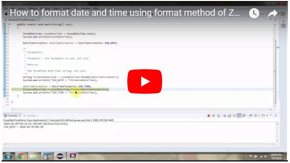JAVA EE: How to format date and time using format method of