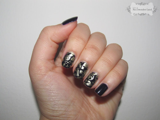 Harry Potter Hehe stamping plate nails