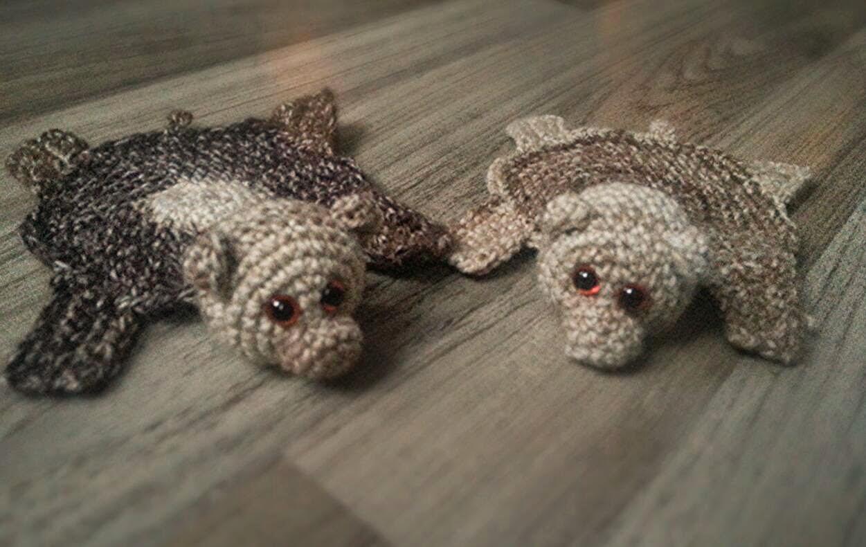 Crochet Bear Rug Coaster