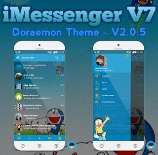 BBM Mod IMessenger Doraemon Theme Based v3.0.1.25 Apk Terbaru