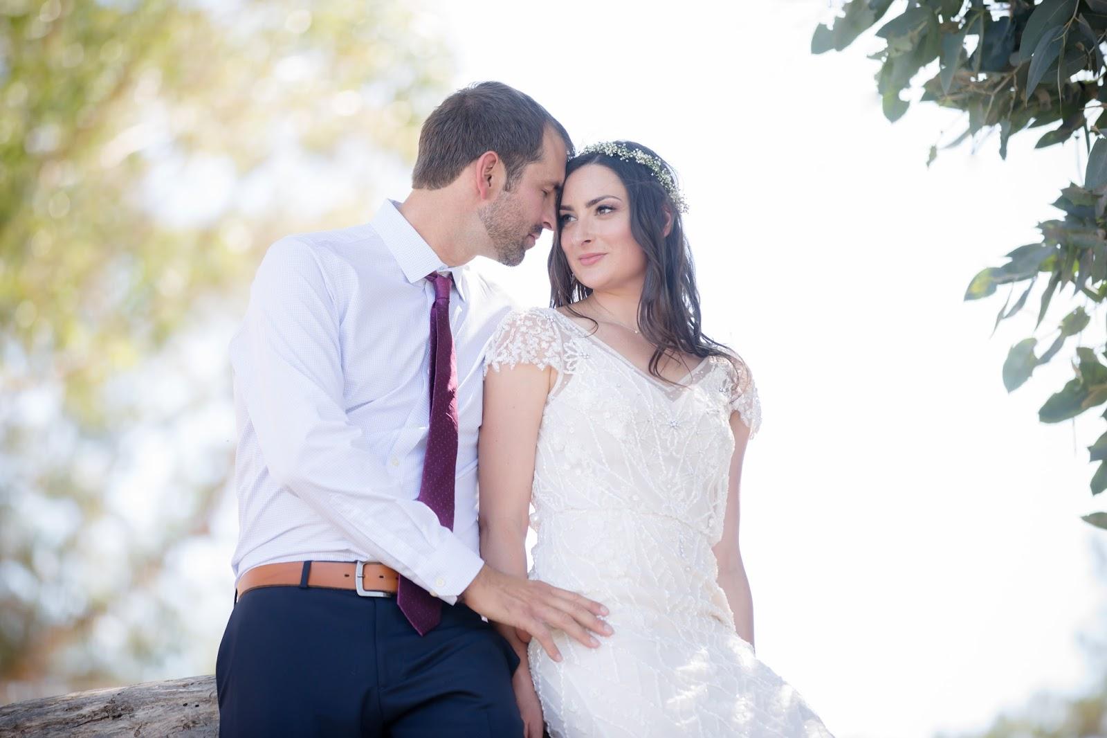 eucalyptus grove bride and groom