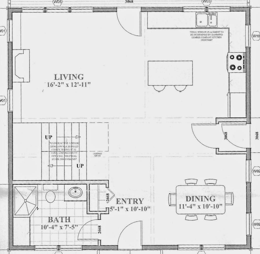 SoPo Cottage: Defining 'Rooms' in an Open Concept Floor Plan