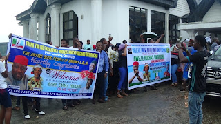 Onuimo Students Welcome APC National Organizing Secretary Barr. Emma Back To The State (Photos).