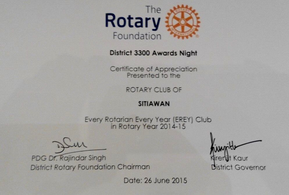 Certificate Of Appreciation Rotary Gallery Certificate
