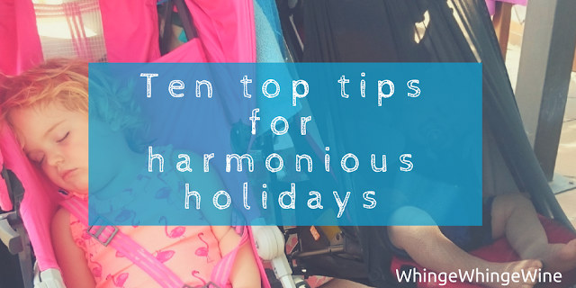 Ten top tips for harmonious family holidays and travelling and flying with kids