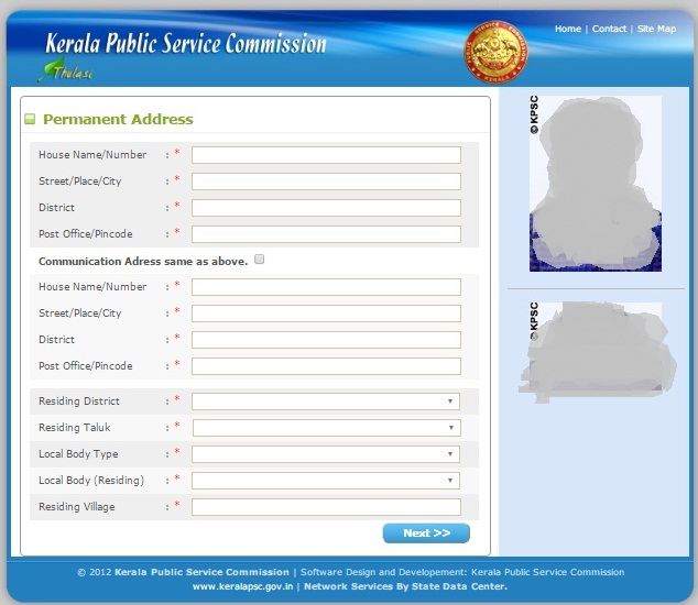 Kerala Psc Thulasi One Time Registration -Submit Communication Details  - Step 8