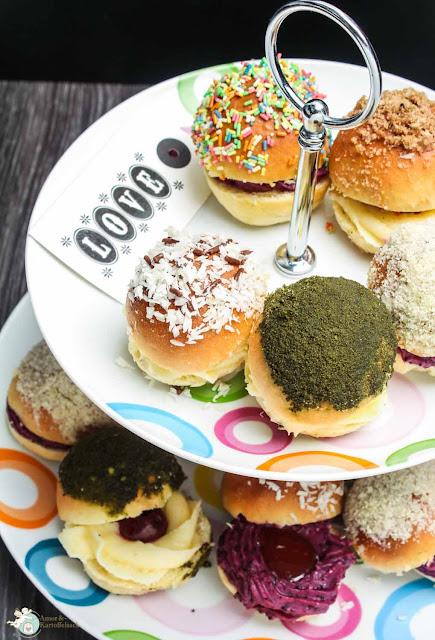 Pfannkuchen aus dem Backofen lecker gefüllt