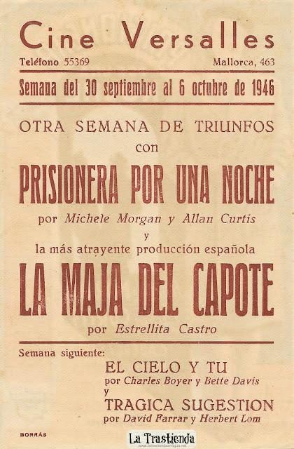 Prisionera por una Noche - Programa de Mano - Michele Morgan - Alan Curtis