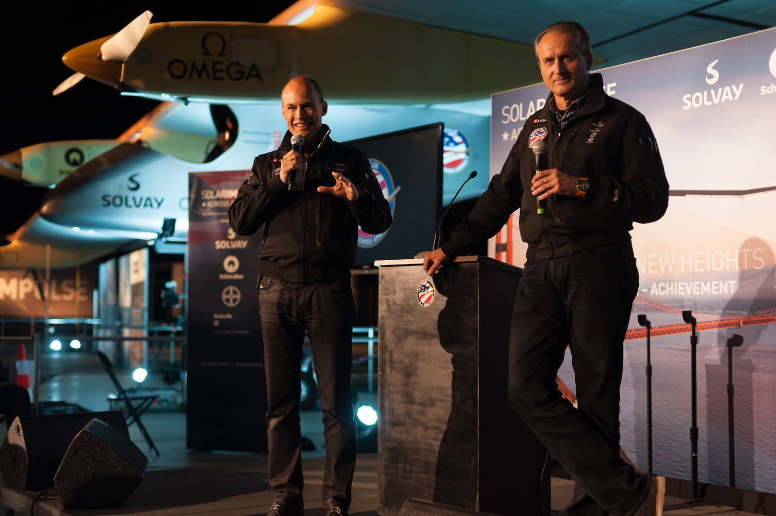 Bertrand Piccard and André Borschberg