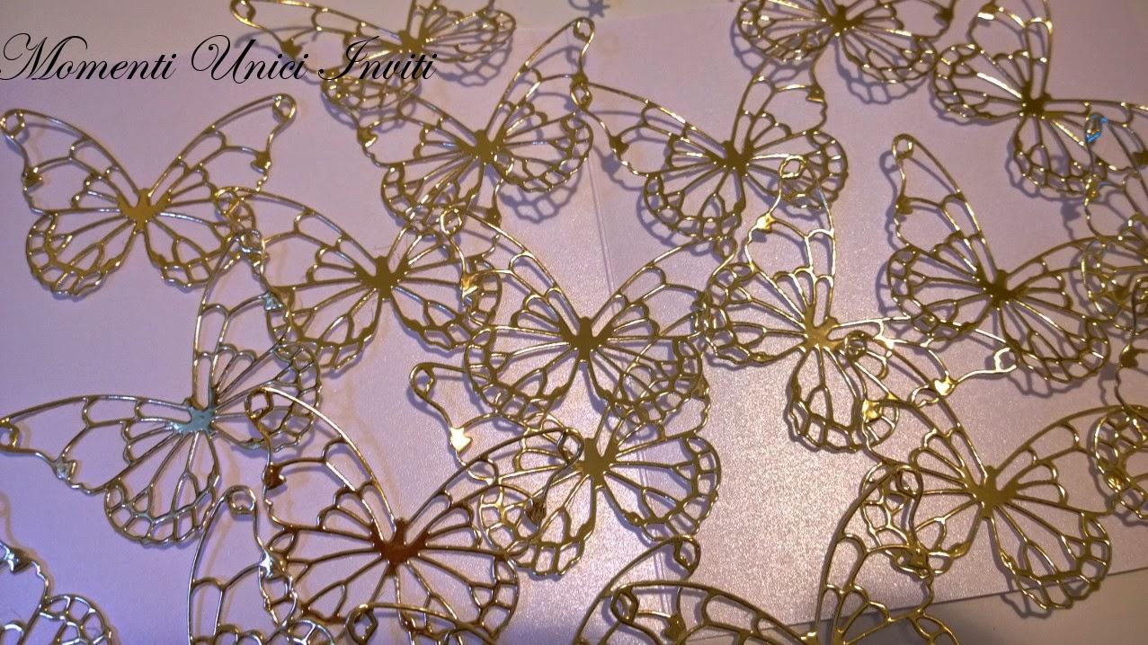 222 ... dove si poseranno queste farfalle dorate?Colore Oro Tema Farfalle