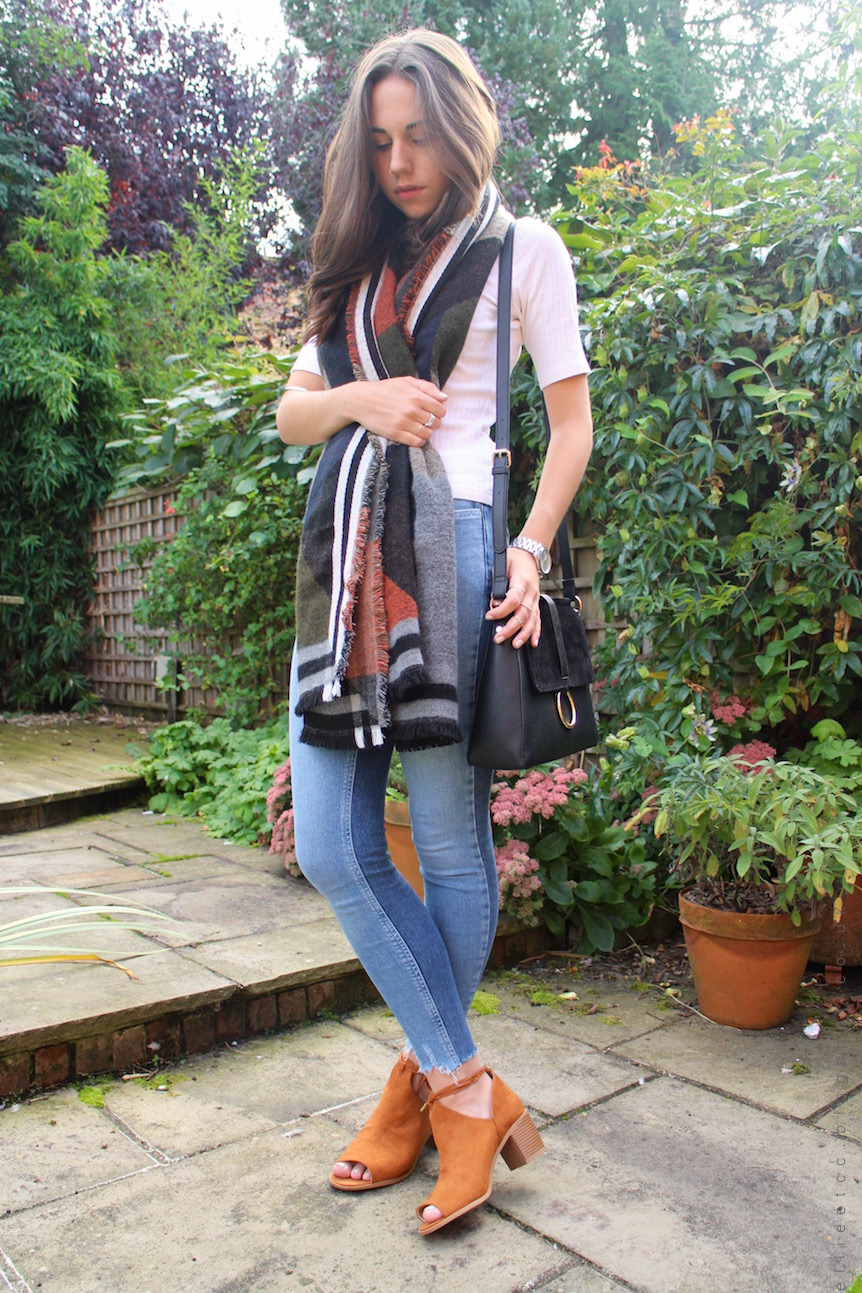 Autumn, accessories, Matalan, style, fashion, outfit, OOTD, lace up boots, scarf, AW16, sponsored, collaboration,