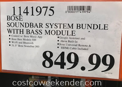 Deal for the Bose Soundbar System Bundle at Costco