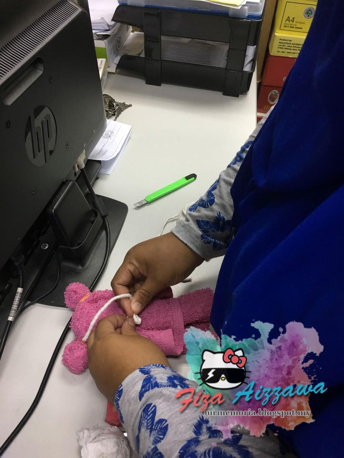 Fiza Aizzawa  DIY Teddy Bear hadiah untuk cikgu sempena Hari Guru 2018 1e934dfd7f