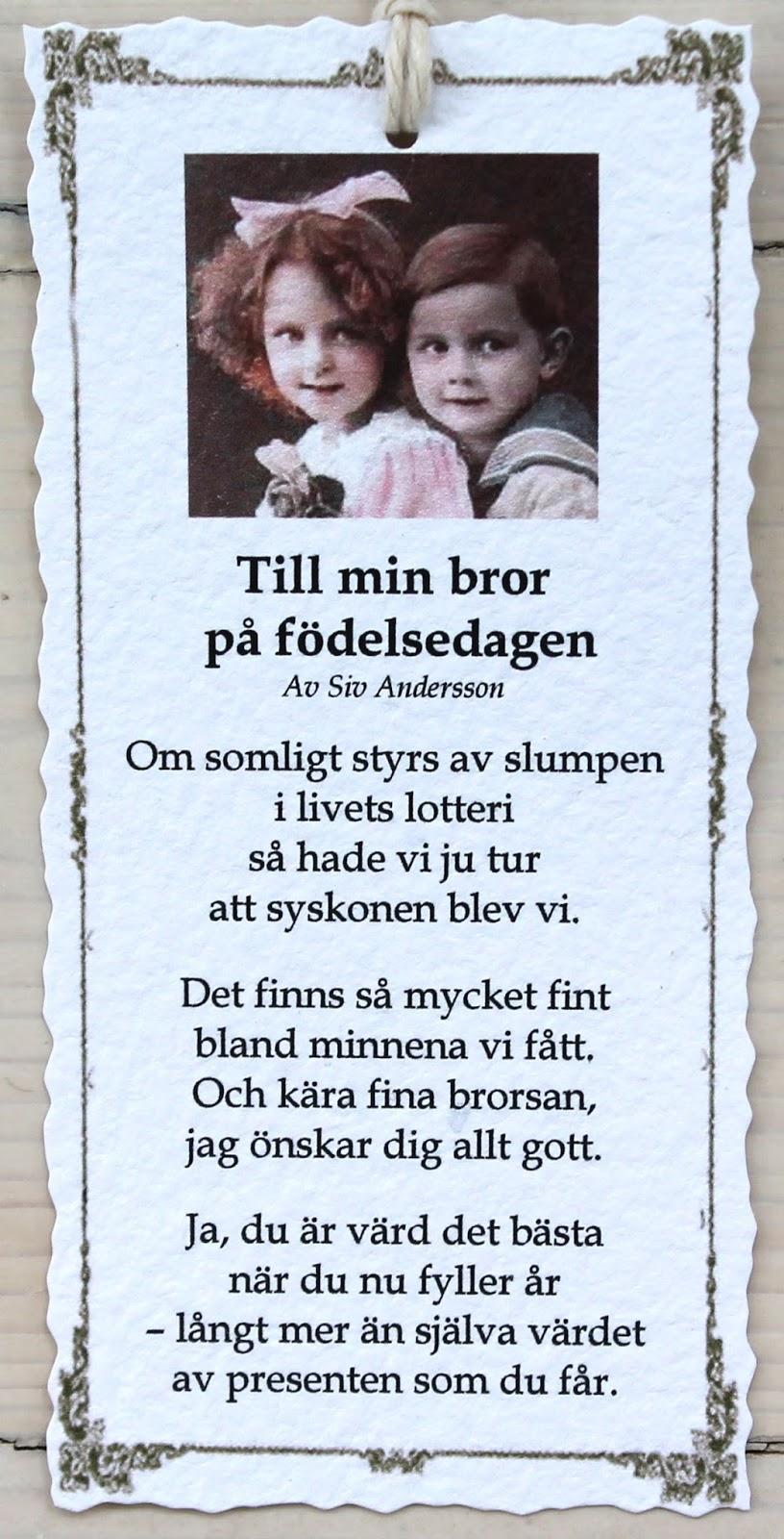 grattis brorsan dikt Grattis På Födelsedagen Min Bror — Sceneups grattis brorsan dikt