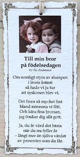 grattis på födelsedagen bror dikt Annas idéer bloggbutik grattis på födelsedagen bror dikt