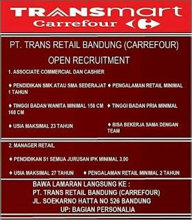 Karir Lowongan Kerja Transmart Carrefour Bandung Terupdate 2019