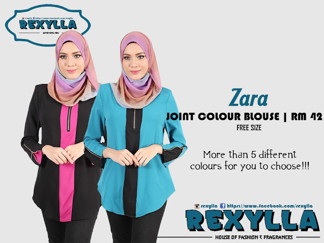 rexylla, joint colour, blouse, zara collection