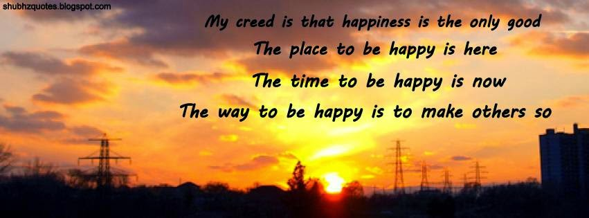 Facebook Happiness Quotes Cover Happy Shubhz Quotes