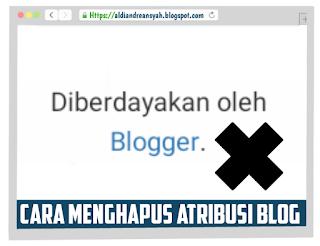 Cara Menghapus Atribusi Blog