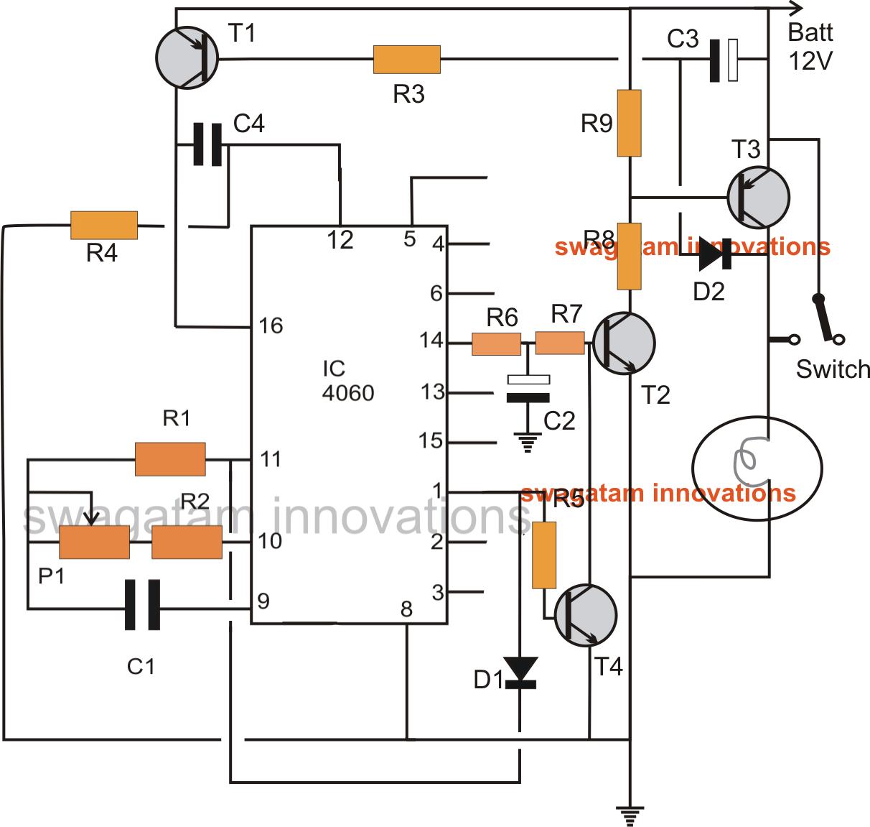 car head lamp fader circuit breathing effect generator. Black Bedroom Furniture Sets. Home Design Ideas