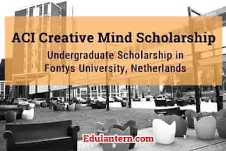 ACI Creative Mind Scholarship to Study Undergraduate in Fontys University, Netherlands