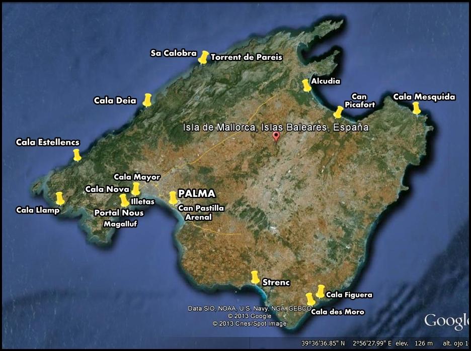 Mapa Calas De Mallorca.Playas Y Calas De Mallorca En Ruta Blog De Viajes
