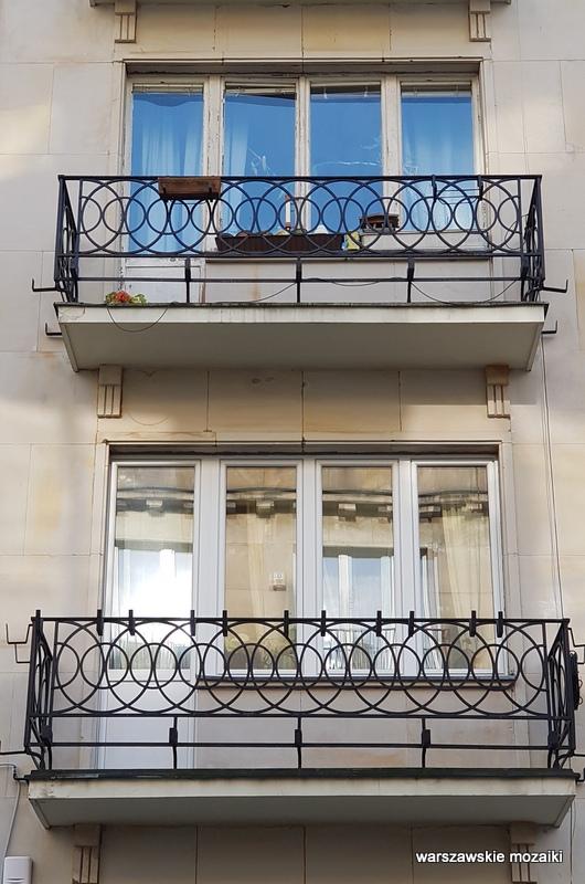 Śródmieście Warszawa Warsaw Aleksander Więckowski art deco kamienica architektura lata 30.  balkon fasada ściana frontowa balkon